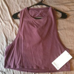 NWT Lululemon Cut Back Crop Tank size 6